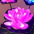 Светодиодный светильник на солнечной батарее в виде лотоса  открытый водонепроницаемый светильник в форме цветка лотоса  Солнечная лампа д...
