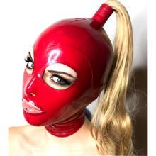 Сексуальное экзотическое белье ручной работы, красные латексные капоты со светлым париком, Клубные костюмы cekc, костюмы для костюмированной...