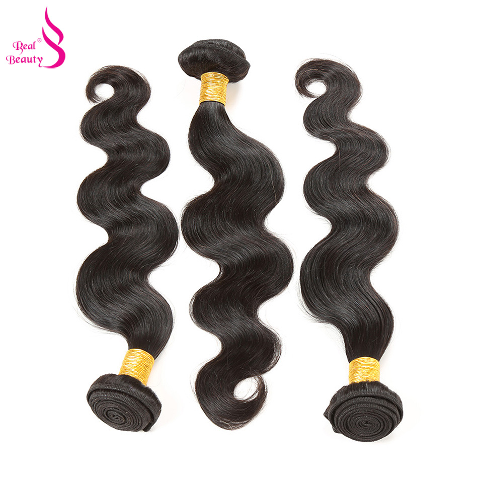 Real Beauty Peruvian Body Wave Bundles 1piece 100% Human Hair Weave Bundles Non Remy Hair Extension Natural Color Free Shipping