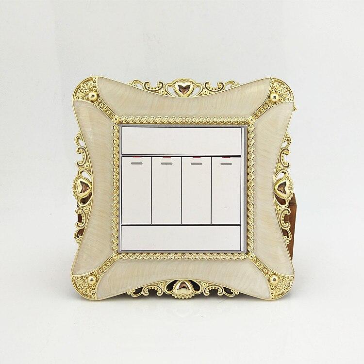 Художественный дом, европейский стиль, креативные золотые наклейки на переключатель, Пномпень, 3093, 86*90 Размер, крышка на переключатель, для