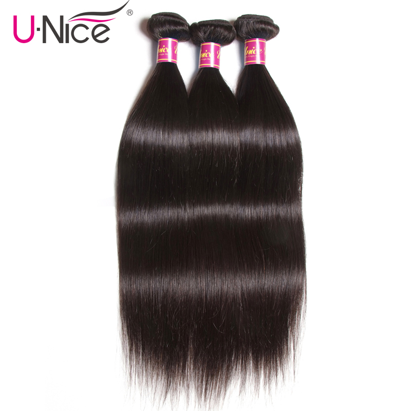 UNICE HAIR Brazilian Straight Hair Bundles Natural Color 100% Human Hair Weave Bundles Remy Hair Extension 1/3/4 PCS Free Shippi