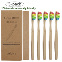 5pcs Colorful Environment-friendly Bamboo Toothbrush Oral Care Bamboo Handle Soft Bristles Tooth brush Whitening Toothbrush denture cleaning brush multi layered bristles false teeth brush oral care tool bristles page 8