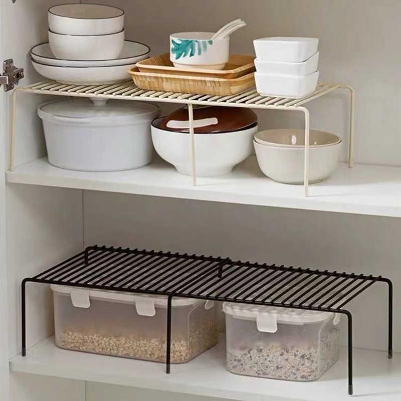Adjustable Kitchen Storage Rack Kitchen Cupboard Storage Shelf Kitchen Organizer Wardrobe Shoe Organizers Saving Space Storage Holders Racks Aliexpress