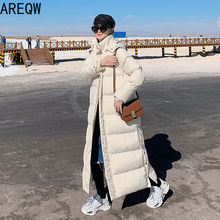 Women Coats Parkas Slim-Jackets Hooded X-Long Beige Black Autumn Winter High-Quality