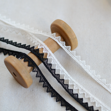 2 metros de largura 0.9cm alta qualidade preto branco laço guarnição fita bordado solúvel em água tecido de renda diy vestuário costura materiais