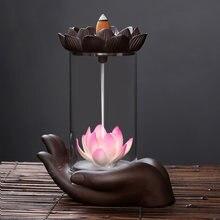 Креативная настольная керамическая ветрозащитная лампа ручной