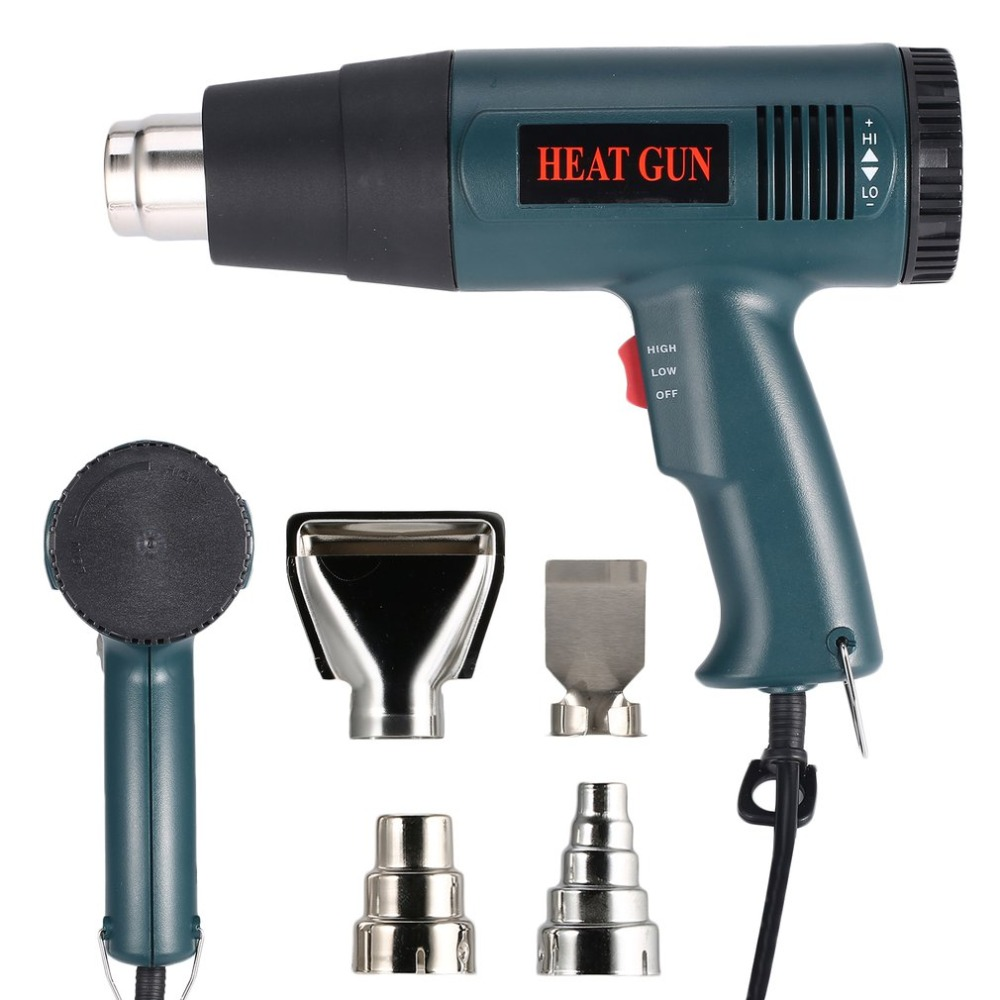 866B 1800W Electric Hot Air Heat Gun Temperature Fan Adjustable Shrink Wrap Paint Stripper Soldering Rework DIY Tool + Nozzle