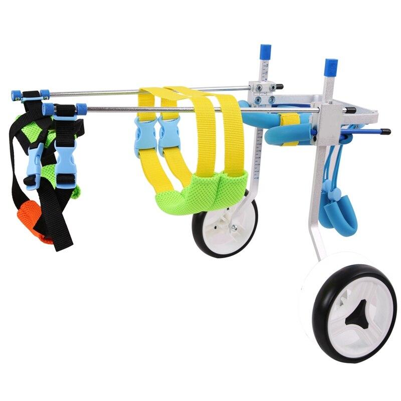 Chien handicapé de voiture de marche de scooter d'alliage d'aluminium d'animal familier approprié au fauteuil roulant réglable de planche à roulettes d'animal familier d'alliage d'animal familier