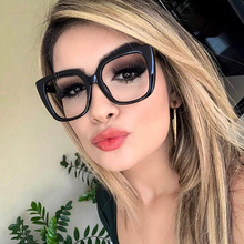 LONSY New Reading Glasses Frame Computer Anti Blue Light Square Myopia Spectacles Frames Ladies Transparent Optical Eyeglasses