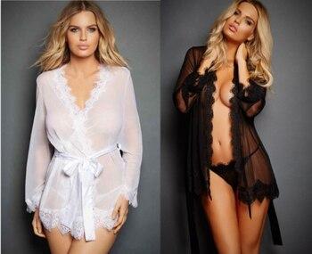 Sexy Lingerie Hot Women Porno Sleepwear Lace Underwear Sex Clothes Babydoll Erotic Transparent Dress Black