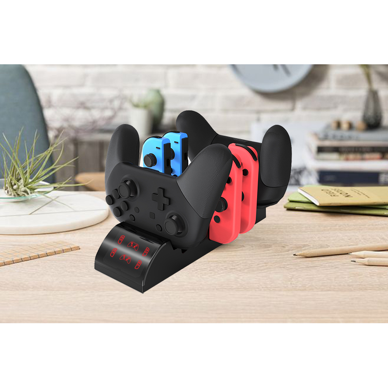 8-In-1 Switch Charger&Elf Ball for Joy-Con Switch Game Controller Charge Dock Station Stand with LED Indicator Handle Charger Ba