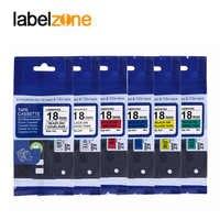 Multicolor 18mm tze241 label ribbon Compatible Brother p-touch printers tze label tapes laminated tze-241 tz-241 tz241 ptouch