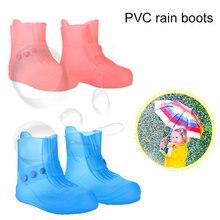 Противоскользящие непромокаемые ботинки; прозрачные походные водонепроницаемые ботинки; цвет синий, розовый; 30-44; зонтик для дождливого дня