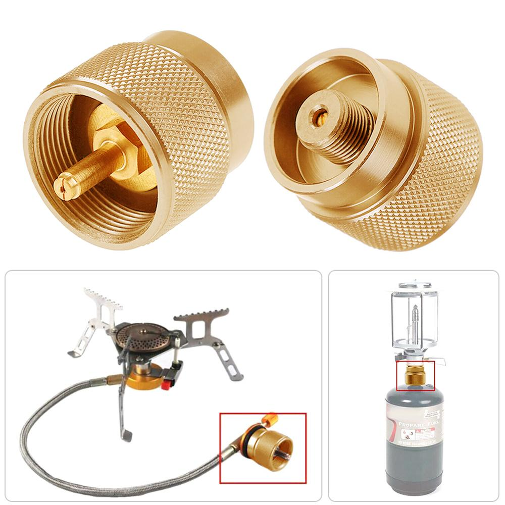 Propane Fuel Tank Adapter Lindal Valve Output Camping Stove Tank Convert MAPP Gas Tank Adapter 1 LB Cylinder Input|Outdoor Stoves|   - AliExpress