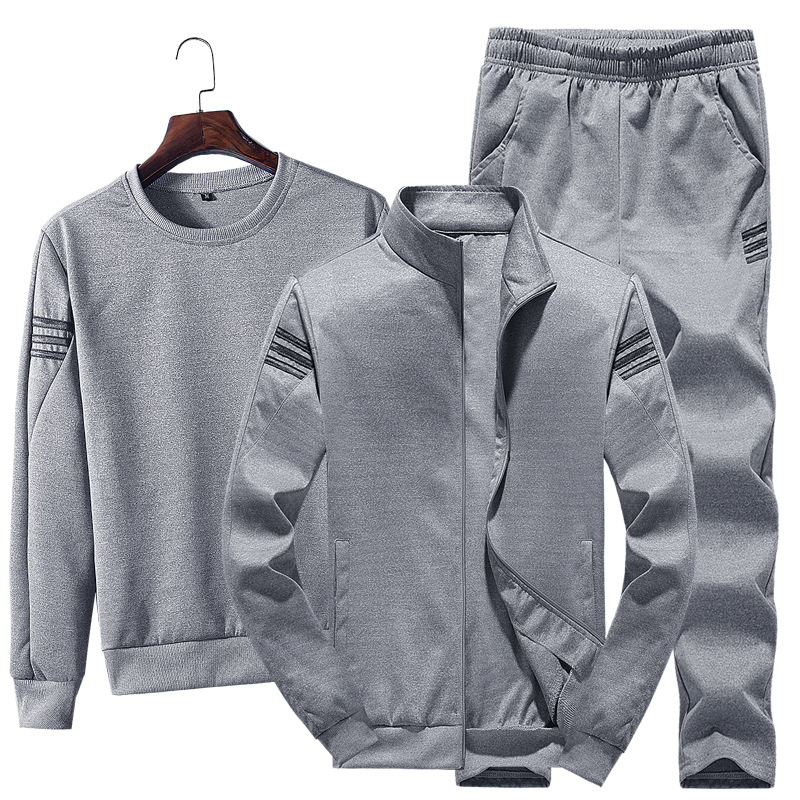 For Spring New Style Korean-style Hoodie Coat Men Leisure Sports Suit Men's Trend Three-piece Set Men'S Wear