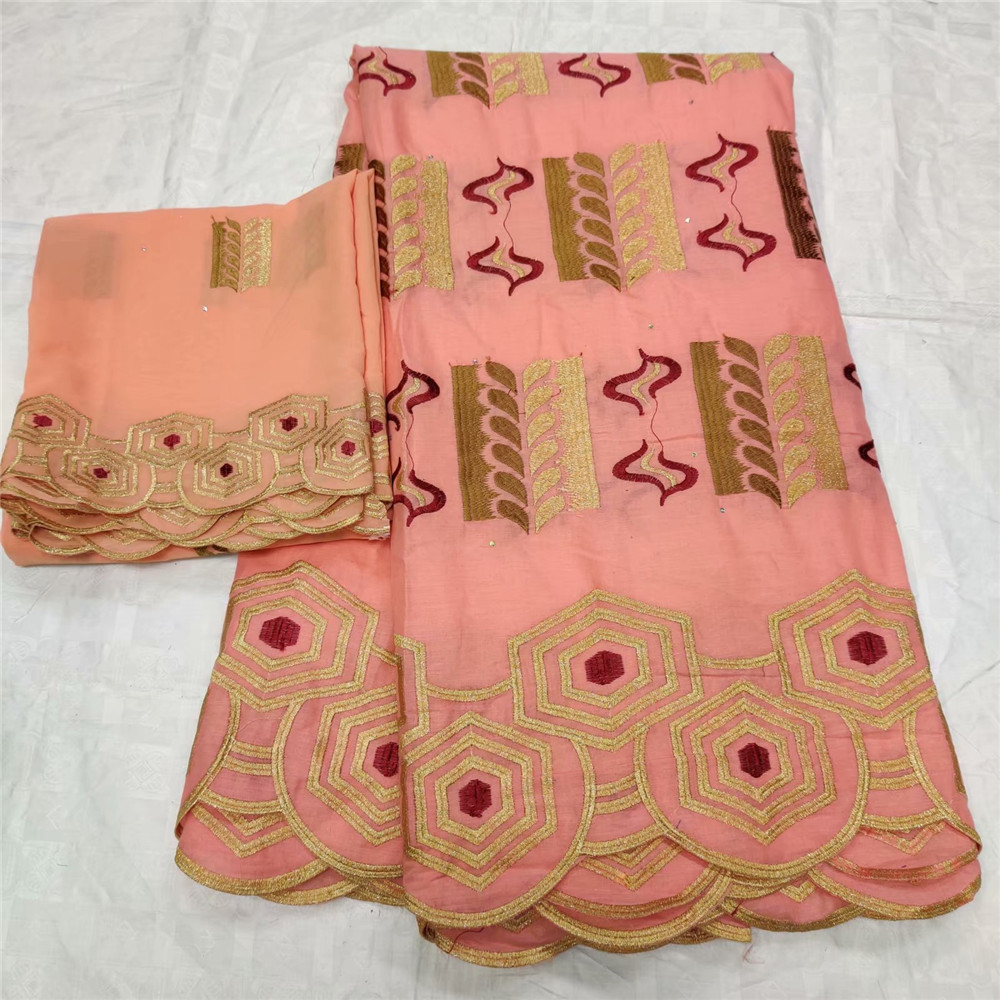African peach Dry Lace Fabrics High Quality Cotton Lace Fabric Swiss Voile With Stones Swiss Voile Lace In Switzerland