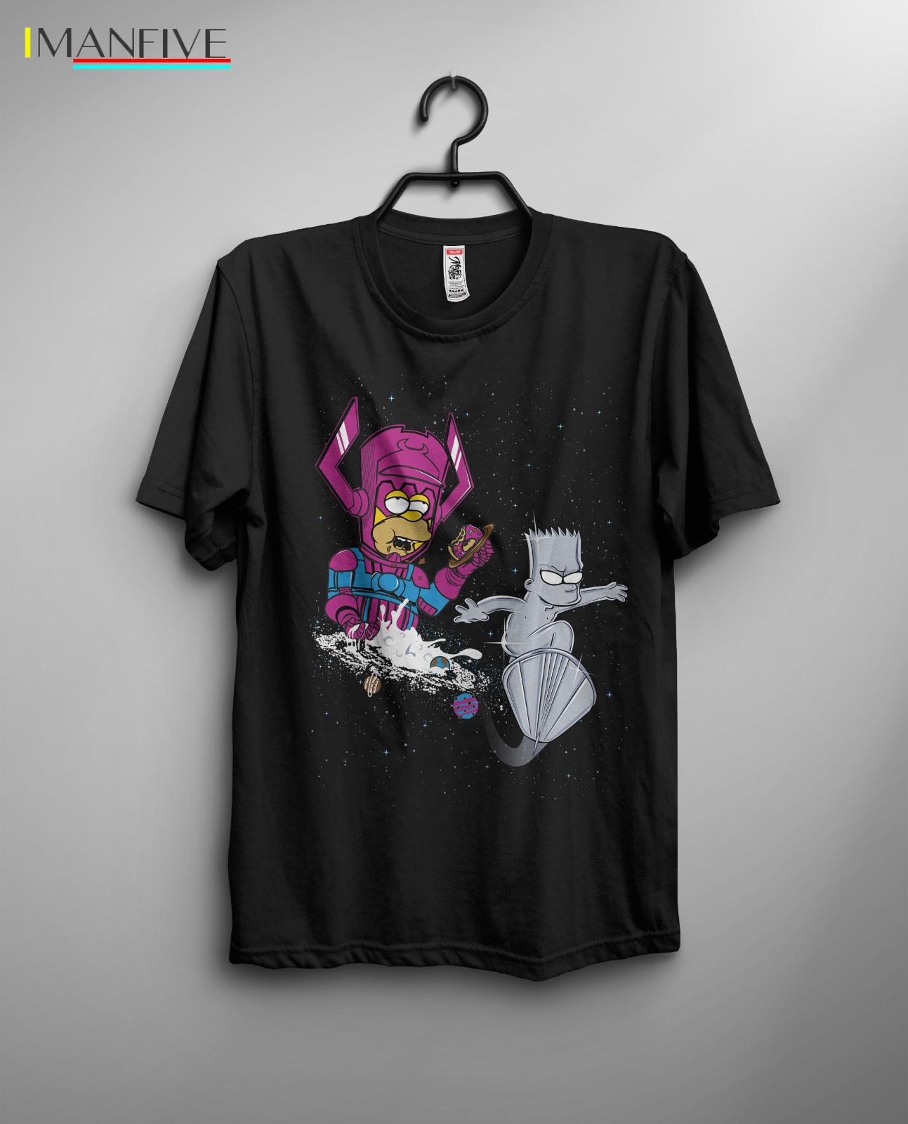 The Rad Surfer T shirt Simpson Silver Surfer Galactus Bart Homer Comics FUnny Men Cotton T Shirt Printed T Shirt Top Tee in T Shirts from Men 39 s Clothing