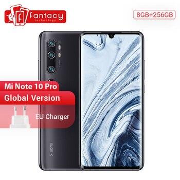 Купить Глобальная версия xiaomi mi Note 10 Pro 8 Гб ram 256 ГБ rom 108MP Penta камера Snapdragon 730G Octacore мобильный телефон 6,47 изогнутая 5260 мАч