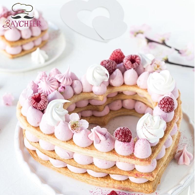 3pcs 3 Sizes Heart Shape Cake Mold Cake Decorating Tools For Wedding Anniversary Cake Bakeware Pastry Tools Cake Molds Aliexpress