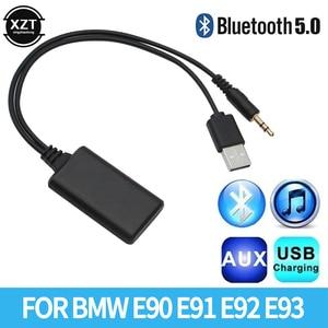Приемник Bluetooth автомобильное радио 3,5 мм разъем AUX-IN подключения к разъему Aux BT5.0 подходит для ответа на звонки и прослушивания музыки адаптер...