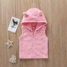 Г. Новая осенняя одежда для маленьких девочек, весенний жилет без рукавов на молнии детские розовые толстовки с капюшоном, пальто для детей, хлопковые детские куртки, комплект
