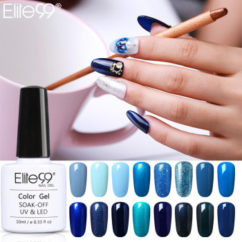 Elite99 blau Gel Nagel Led gel für nägel Hybrid gel top basis mantel polygel uv lampe Gel Varinish Blau glitter Nail art werkzeuge
