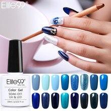 Elite99 blue Gel Nail Led gel Polish for nails Hybrid gel top base coa