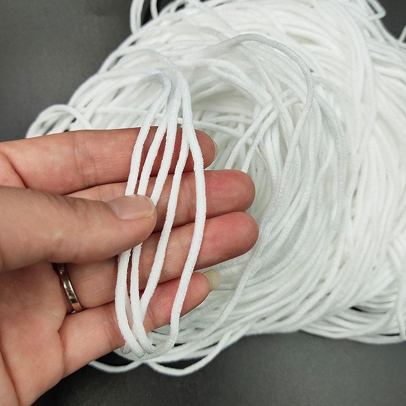 3mm Mask Elastic Rubber Band Mask Ear Hanging Rope Round Elastic