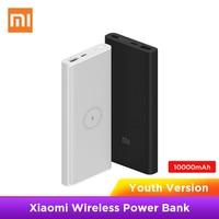 Xiaomi Wireless Power bank 10000mAh Jugend WPB15ZM Typ C Mi Power 10000 Qi Schnelle Drahtlose Ladegerät Tragbare Lade Poverbank