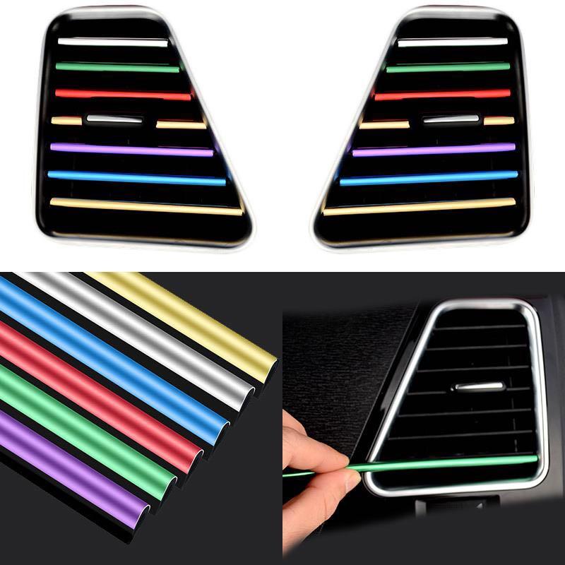 10 шт., декоративная полоса для вентиляционного отверстия салона автомобиля