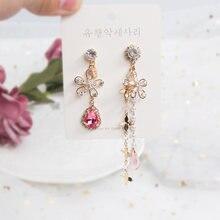 Mwsonya модные корейские Роскошные серьги с кристаллами в форме