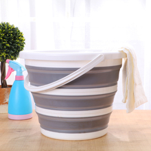 10L Folding Bucket Bathroom Outdoor Fishing Bait Folding Round Portable Car Wash Bucket Silicone Bucket Kitchen Accessories Gift