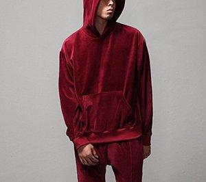 Image 2 - 2018 Nieuwe Aangekomen Kanye West Streetwear Effen Color100 % Fluwelen Hoodies Mannen Truien Hip Hop Lange Sweatshirts Jeugd Populaire S XL