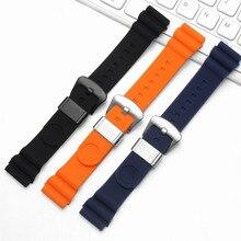 BRETA резиновый ремешок черный синий оранжевый мягкие силиконовые спортивные часы браслет для Seiko Diver Scuba