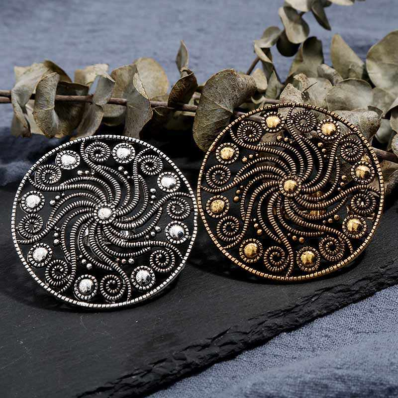 Steampunk גדול טבעות לנשים Handamde עתיק זהב כסף דפוס היפ הופ אמצע אצבע טבעות מסיבת תכשיטי מתכוונן