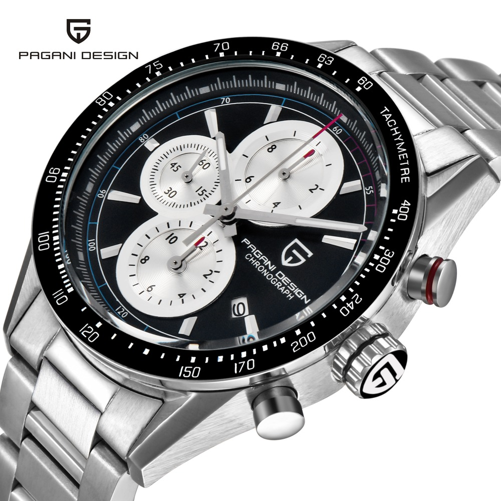 PAGANI DESIGN Luxury Wrist Watches Stainless Steel Business Watch Military Sports Watches Men Multifunction Clock Reloj Hombre