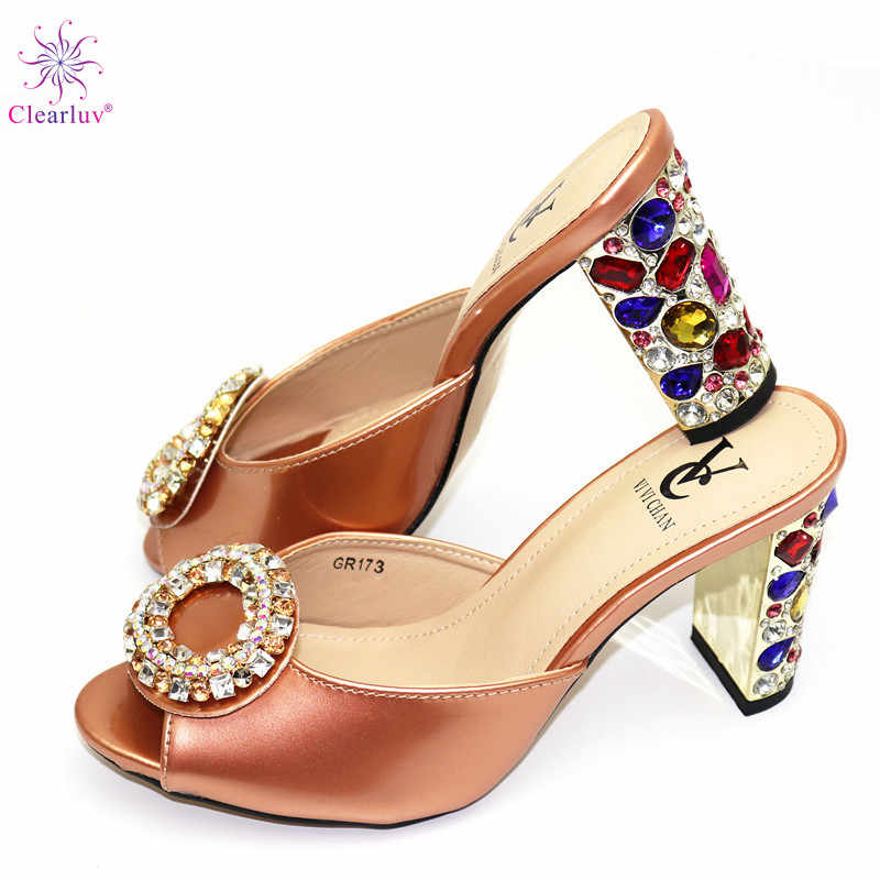 Champagne Color Ladies Shoes without