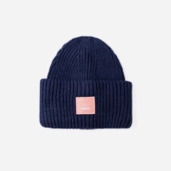 2020 New Acne unisex women's autumn and winter hats Angora100% double layer warm hat Skulies wool hat Warm knitted hat 22