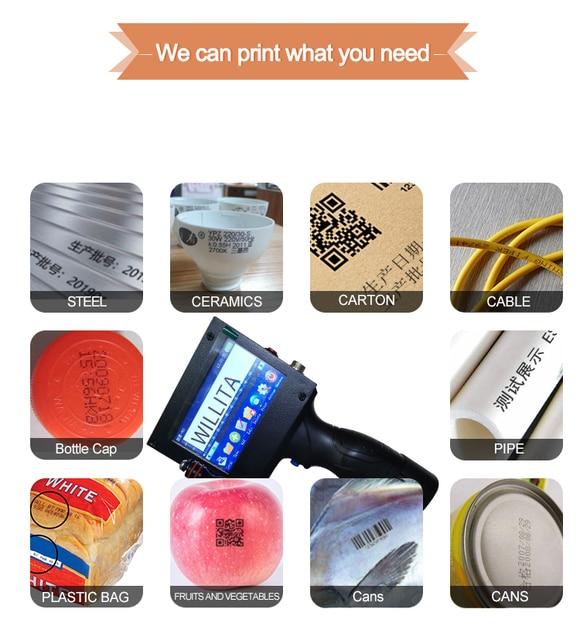 Envío Gratis, impresora de chorro de tinta manual de 25,4 MM, producción, caduca, fecha, número de serie, código de barras, código qr, impresora de chorro manual