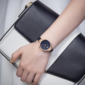 Image 5 - NAVIFORCE Brand Luxury Leather Fashion Watches Women Creative Rose Dial Casual Elegant Lady Quartz Wrist Watch Relogio Feminino