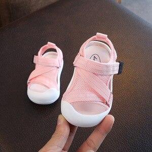 Image 3 - Verão infantil da criança sapatos do bebê meninas meninos da criança sapatos antiderrapante respirável de alta qualidade crianças anti colisão sapatos