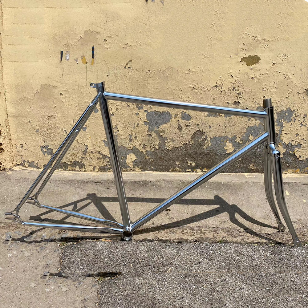 vintage <font><b>Steel</b></font> <font><b>bike</b></font> <font><b>frame</b></font> sliver Fixed Gear <font><b>bike</b></font> 700C Track Single speed <font><b>Bike</b></font> 52cm fixie <font><b>bike</b></font> <font><b>frame</b></font> customize <font><b>frame</b></font> image