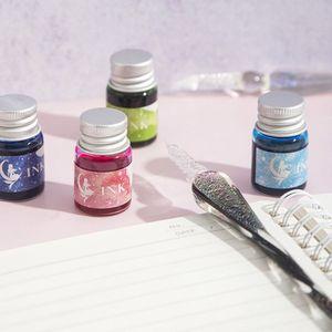 Image 5 - Pluma de tinta de cristal cielo estrellado pluma de inmersión de vidrio para pluma estilográfica para escribir, Set de regalo