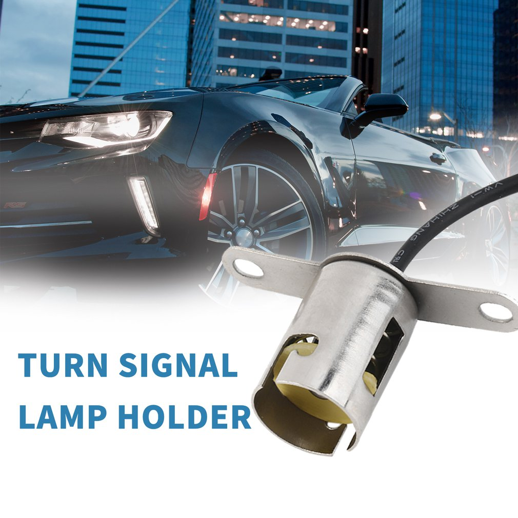 BA15s 1156 Bayonet Led Light Bulb Socket Auto Lamp Holder Base for Car Truck Tail Light Single Contact Snap-in Socket Assembly