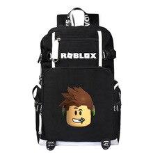 Mochilas escolar para laptop, mochilas de animação para estudantes, meninos e meninas, com carregador usb