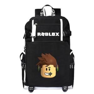 Image 1 - Mochilas escolares de moda para estudiantes de animación, mochilas escolares para niño y niña, mochila para ordenador portátil con carga USB
