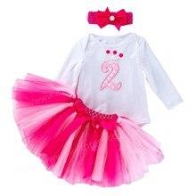 Летняя одежда для детей с года до трех на день рождения вечерние платье для новорожденных, детское платье для детей для маленьких девочек 2nd ...
