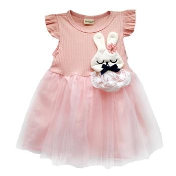 Baby Girl's Cartoon Rabbit Dress 6