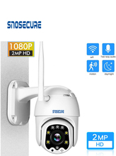 SNOSECURE waterproof 1080P PTZ IP Camera  Outdoor Speed Dome Wireless Wi-fi Security Camera Pan Tilt Network CCTV Surveillance 360 mini ip camera 3g 4g sim card wireless wi fi ptz 1080p ir dome 5x zoom cctv security surveillance outdoor waterproof camera