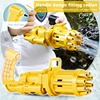 2021 New Toy Kids Gatling Bubble Gun Toys Summer Automatic Soap Water Bubble Machine for Children Indoor Outdoor Wedding Bubble